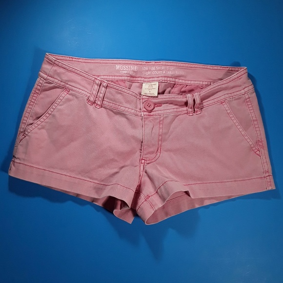Mossimo Supply Co. Pants - Low Rise Pink Short Shorts